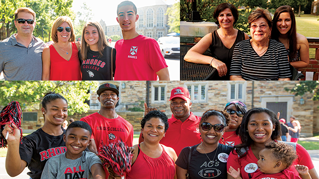 Parents and students enjoying Family Weekend