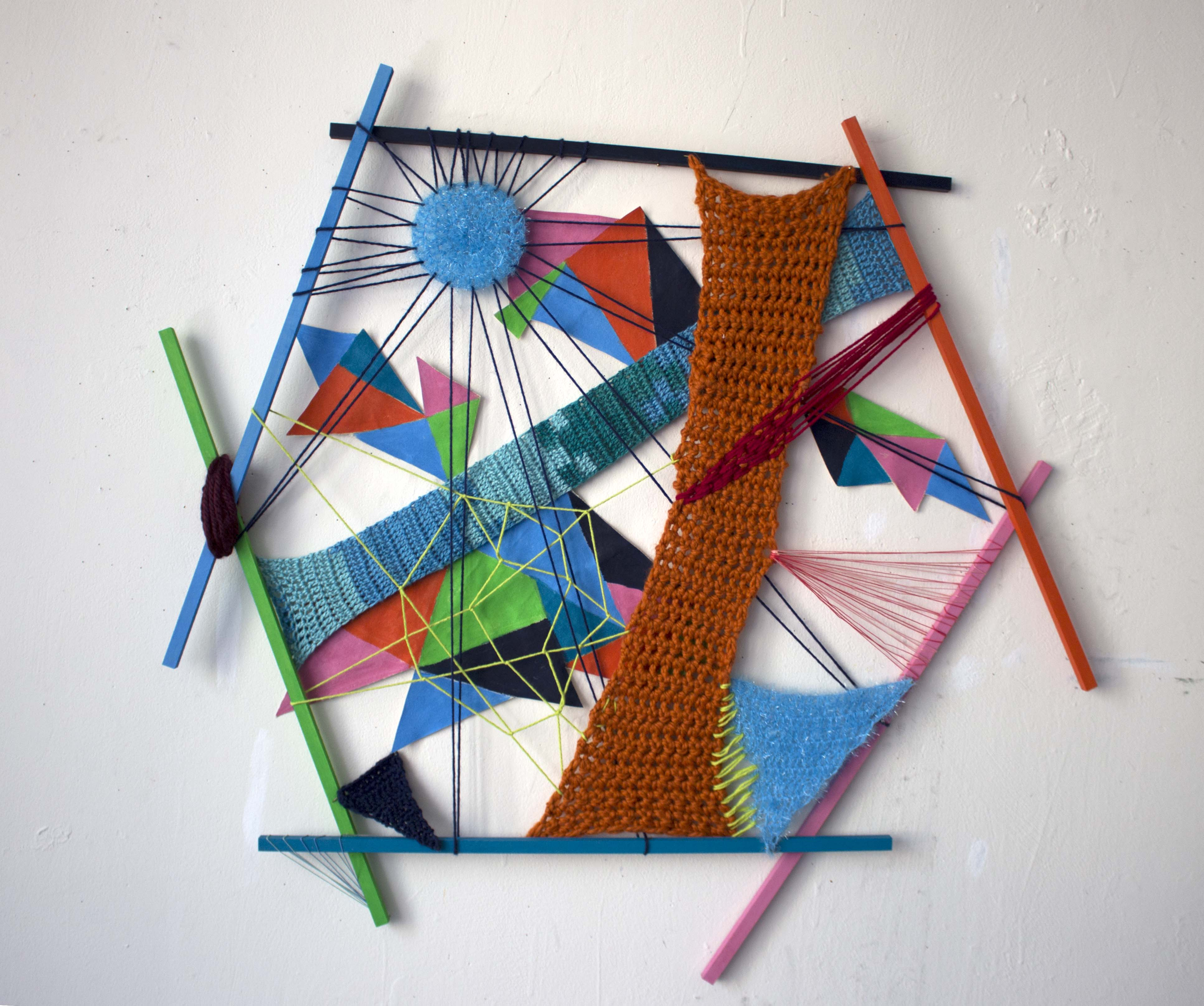 Painting made with yarn