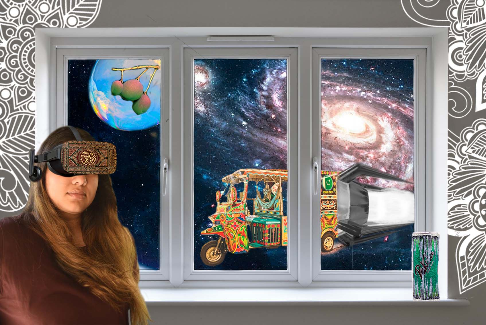 Image of a girl and space