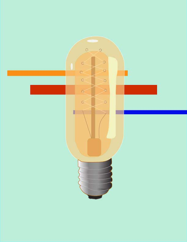 A digital image of a lightbulb