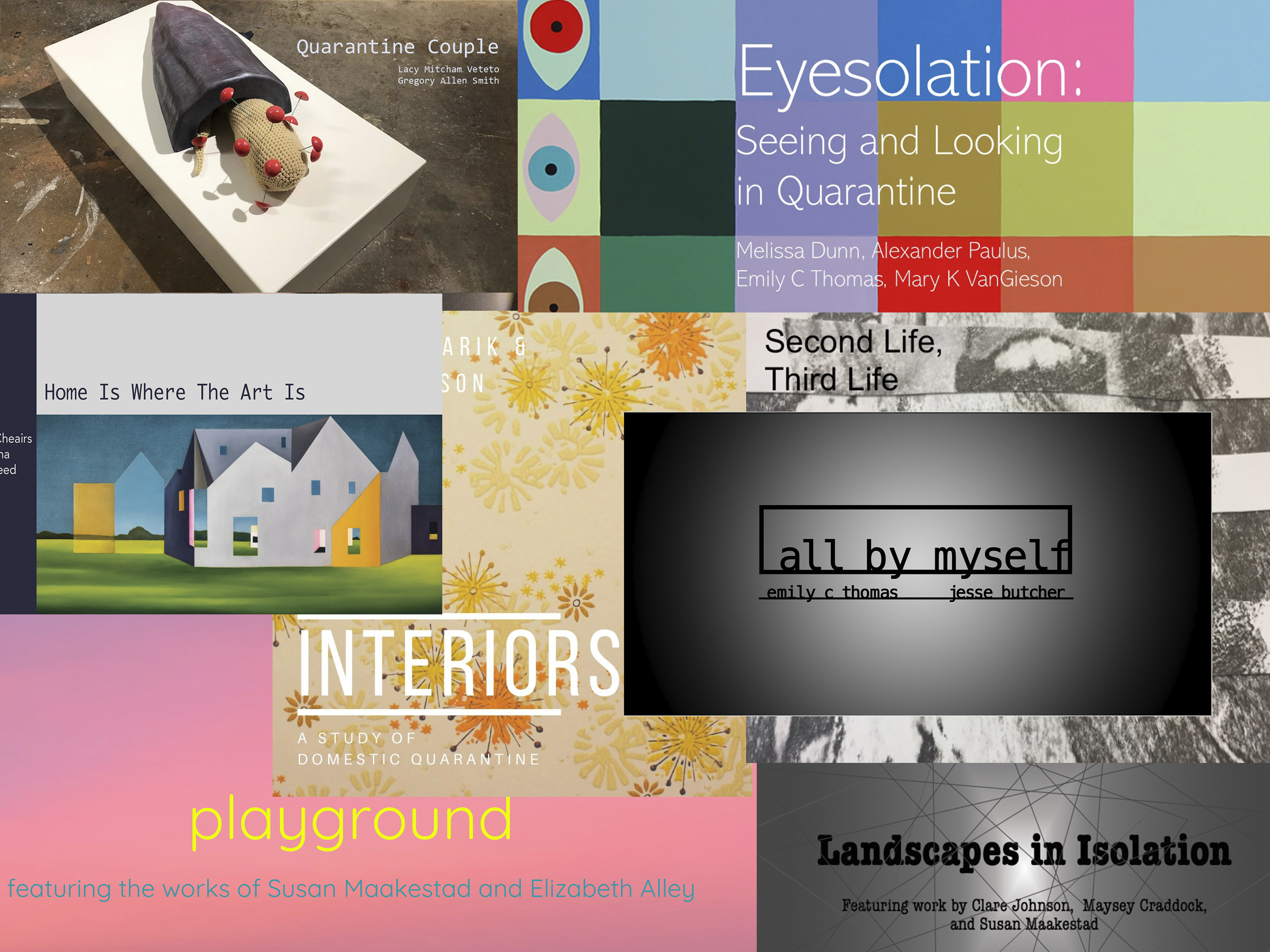 a collection of posters for virtual exhibits