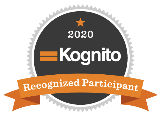 a badge that says Kognito